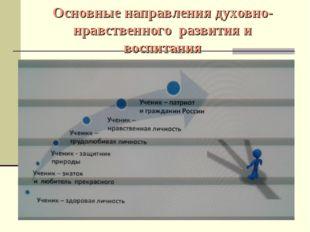 Основные направления духовно-нравственного развития и воспитания