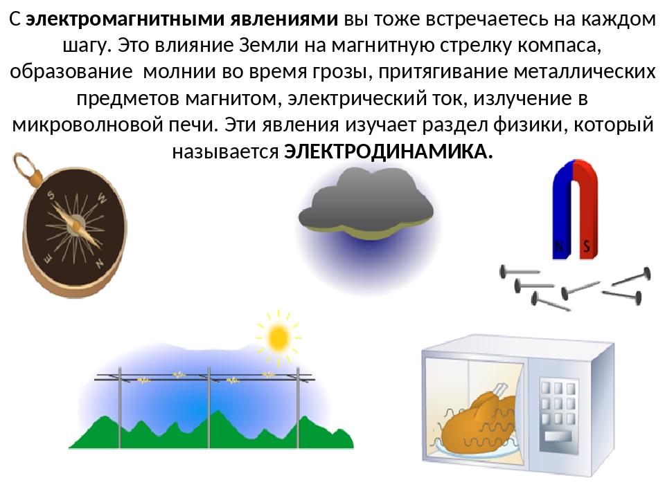 С электромагнитными явлениями вы тоже встречаетесь на каждом шагу. Это влияни...