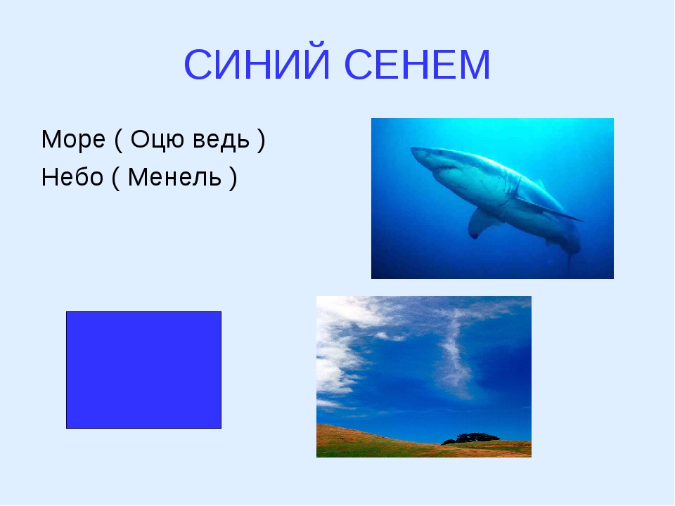 СИНИЙ СЕНЕМ Море ( Оцю ведь ) Небо ( Менель )