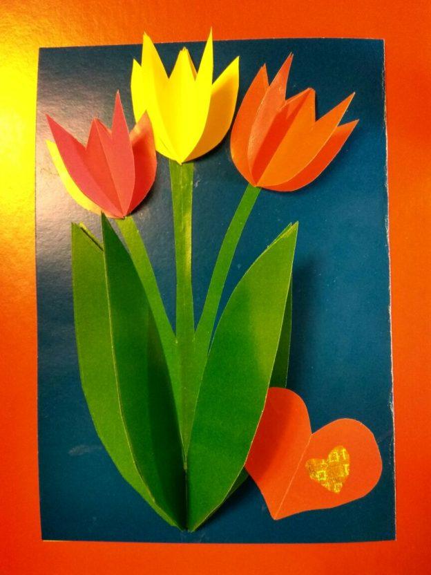 выведены открытка из бумаги тюльпаны русских сказках