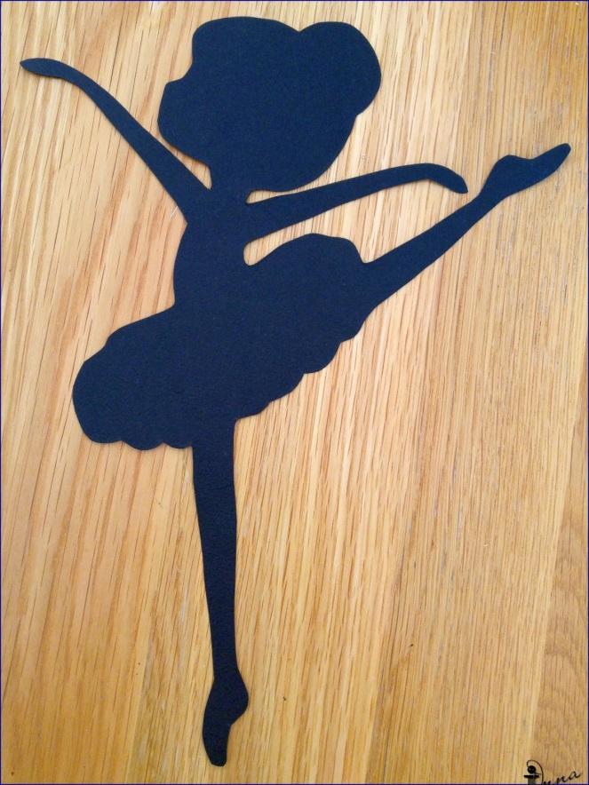 Выкройки открыток с балериной, которая
