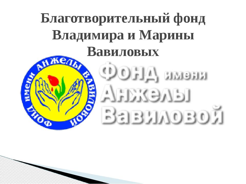 Благотворительный фонд Владимира и Марины Вавиловых