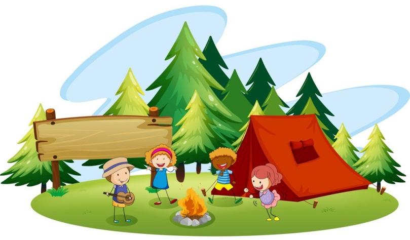 Картинки на прозрачном фоне дети в походе