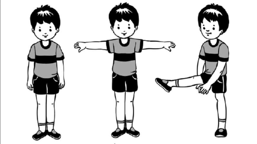 Картинки с упражнениями по физкультуре для детей