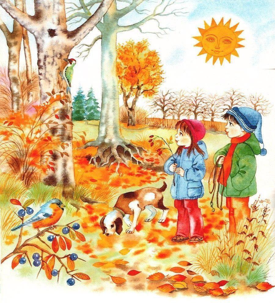 Осень картинки для детей дошкольного возраста