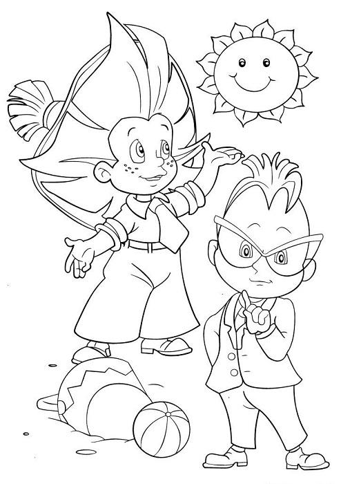 Незнайка и его друзья рисунки карандашом