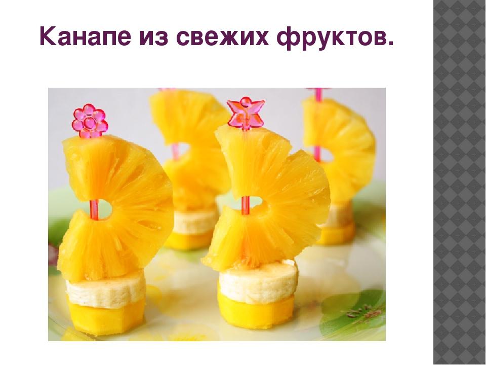 Канапе из свежих фруктов. Объяснение учителя. Любимое блюдо многих людей. Кан...