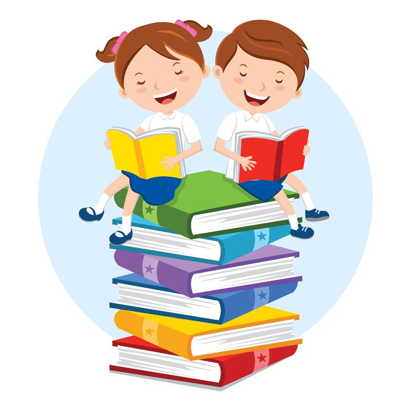 Картинки о чтении книг детьми, поздравительной