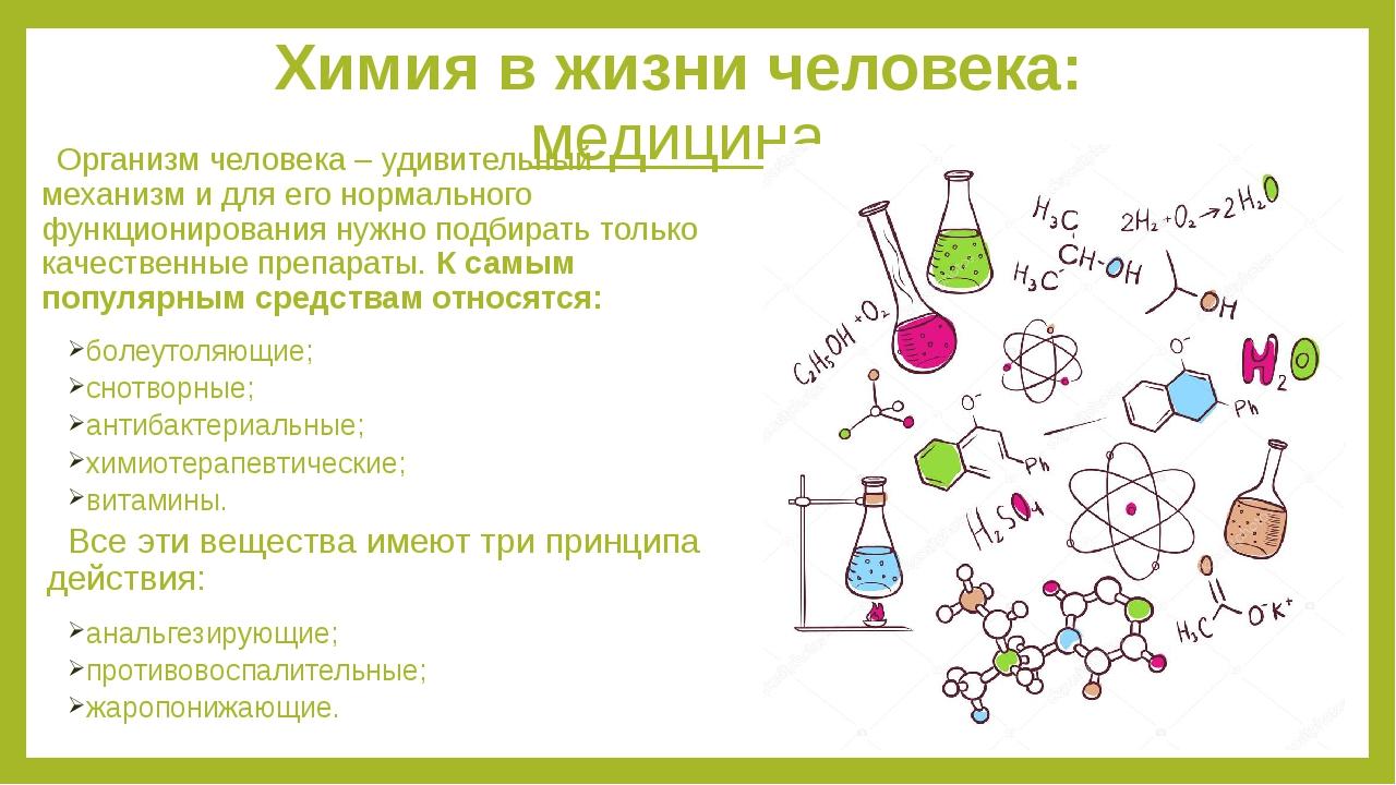 плакат на тему химия в косметике химический