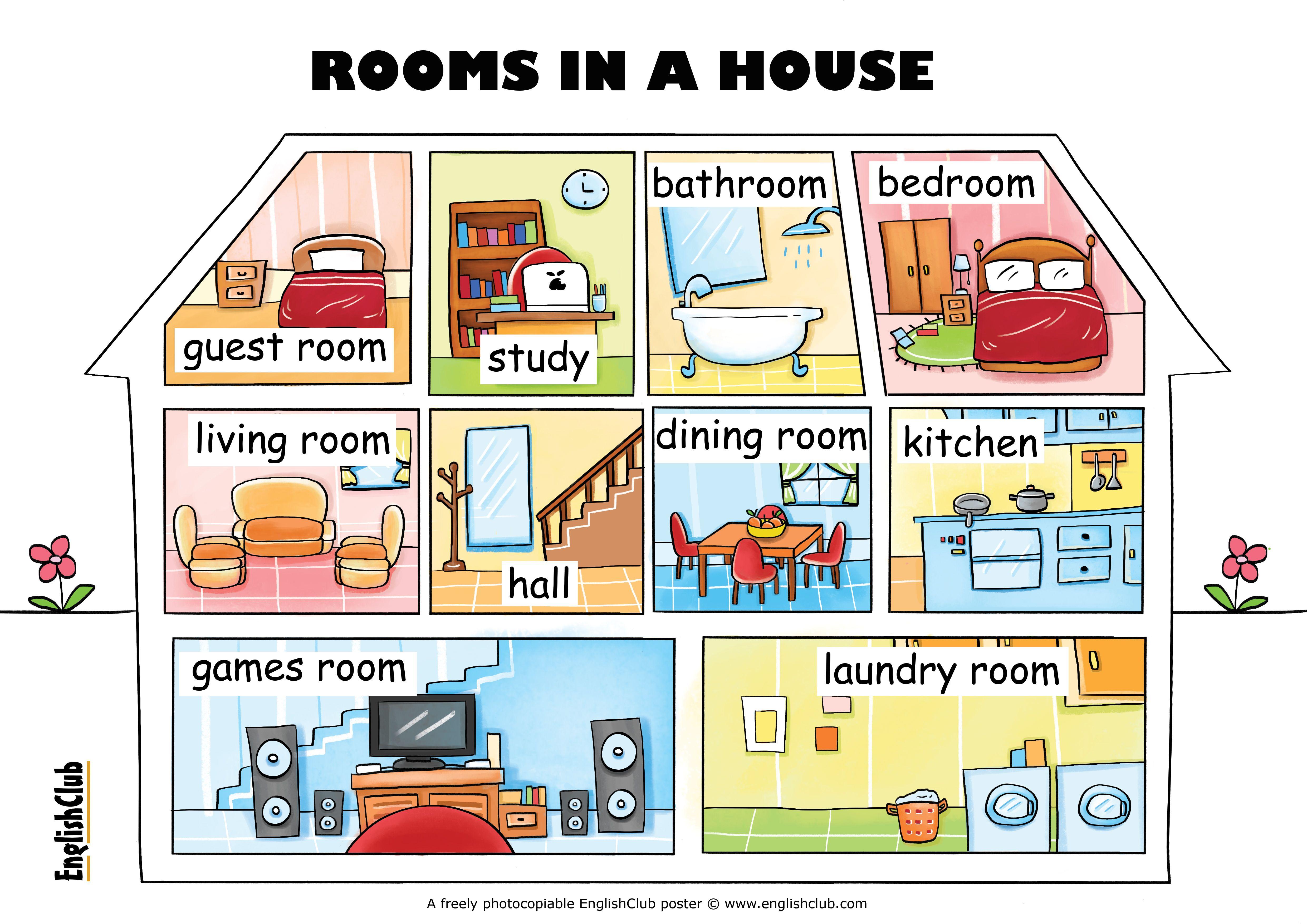Картинка для описания дома на английском одно