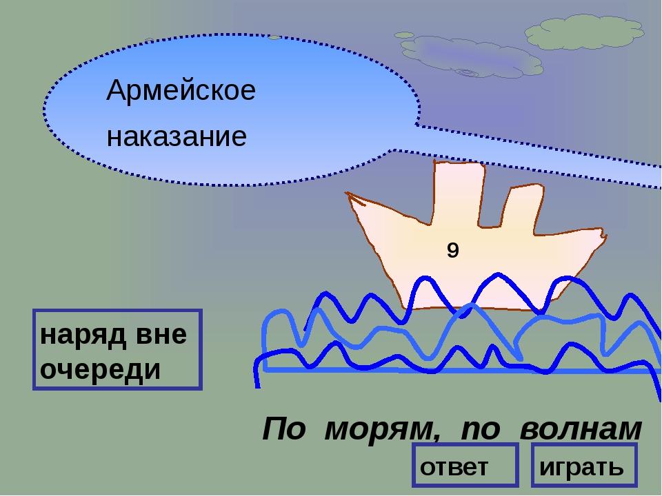 ВНИМАНИЕ ! ВОПРОС Кого называют отцом русской Армии? 9 Правильный ответ Петр...
