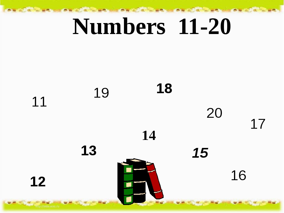 Numbers 11-20 11 12 13 14 15 16 17 18 19 20