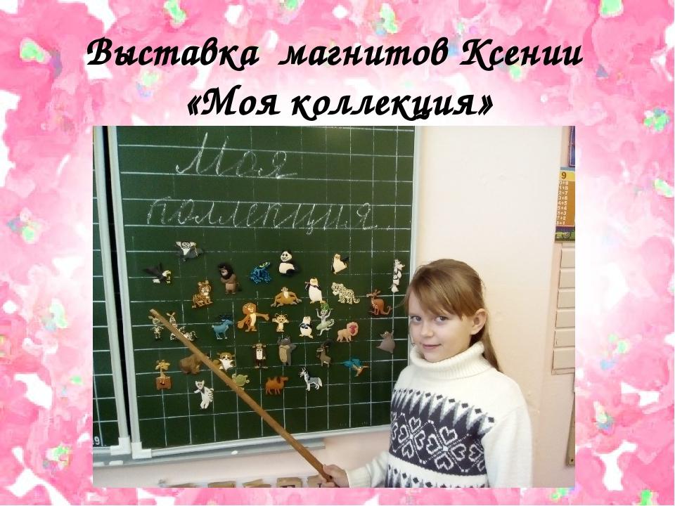 Выставка магнитов Ксении «Моя коллекция»