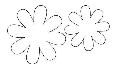 Пожалуйста, трафареты цветов для открытки подготовительная группа