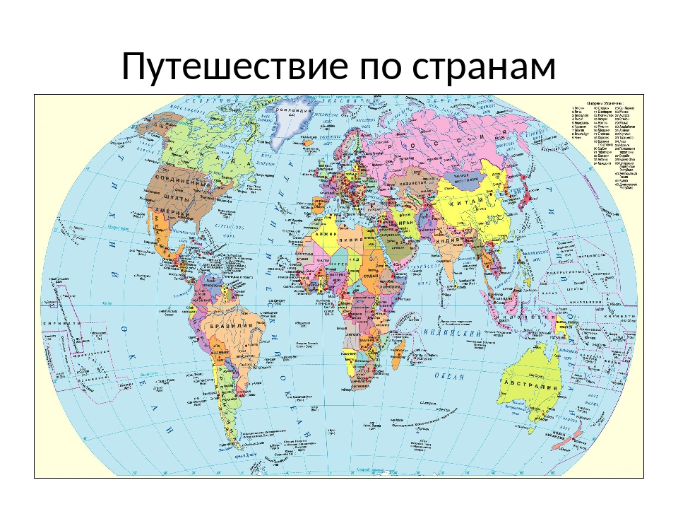 Путешествие по странам