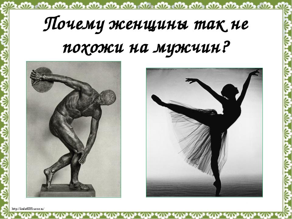 Почему женщины так не похожи на мужчин? http://linda6035.ucoz.ru/