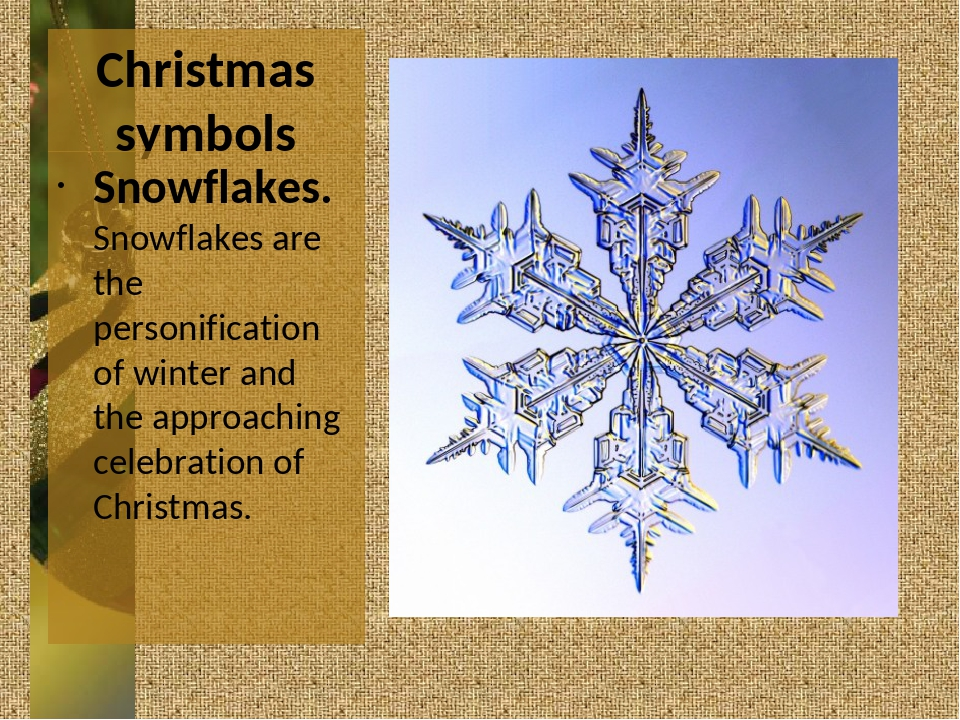 Christmas symbols Snowflakes. Snowflakes are the personification of winter an...