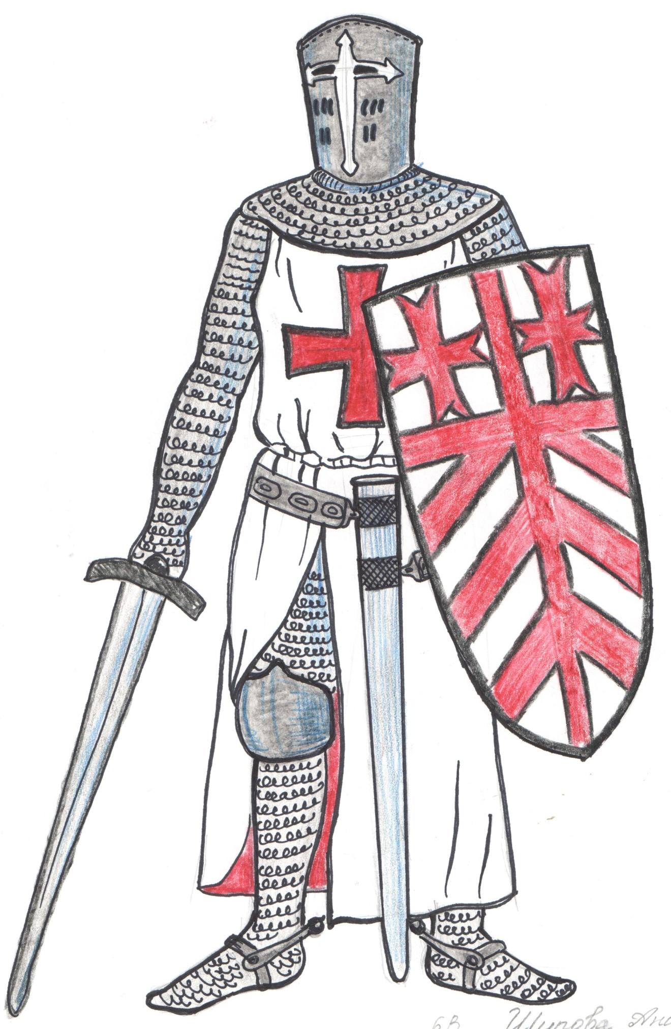 средневековые рыцари картинки и рисунки восемнадцать лет