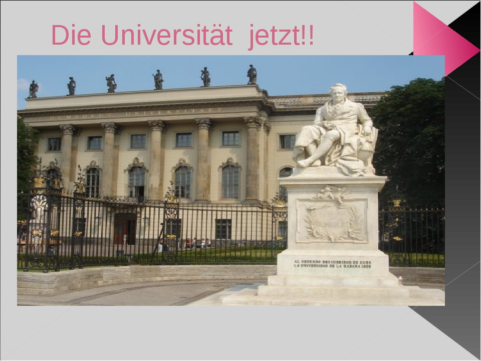 Die Universität jetzt!!
