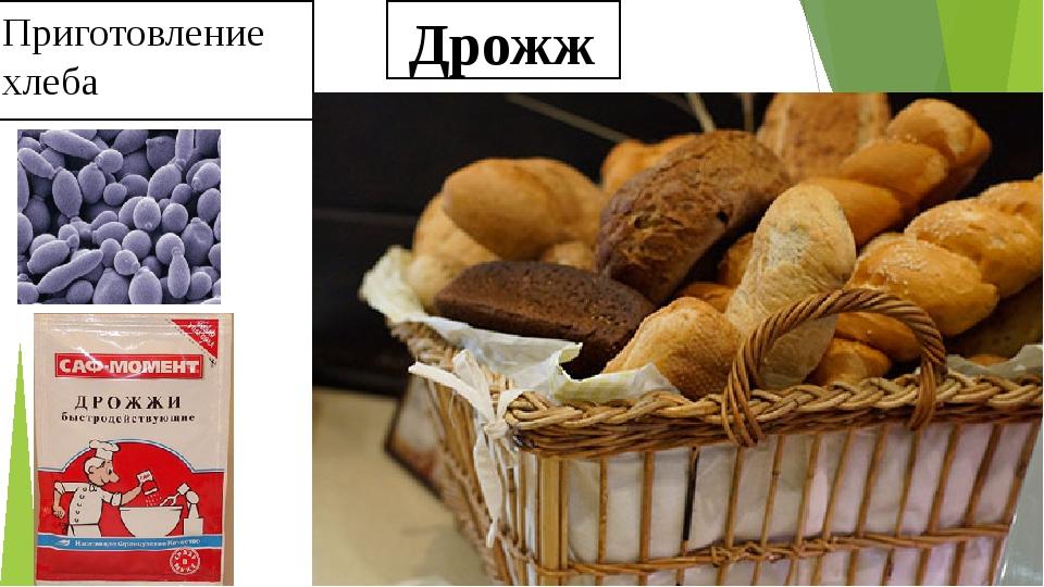 Дрожжи Приготовление хлеба