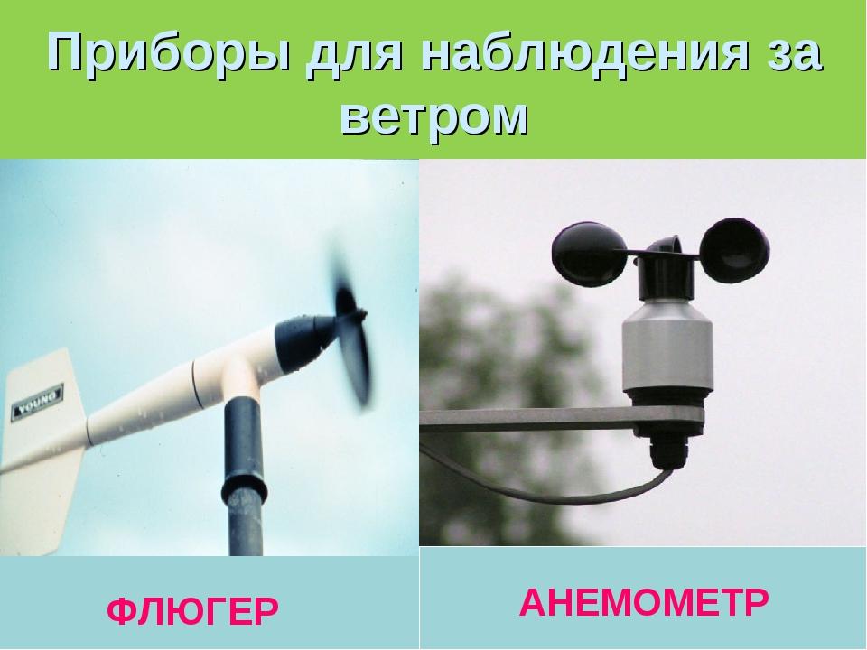 Приборы для наблюдения за ветром ФЛЮГЕР АНЕМОМЕТР
