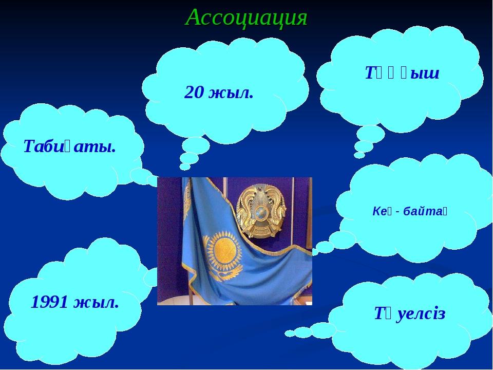 Ассоциация Кең- байтақ Табиғаты. 20 жыл. Тәуелсіз 1991 жыл. Тұңғыш
