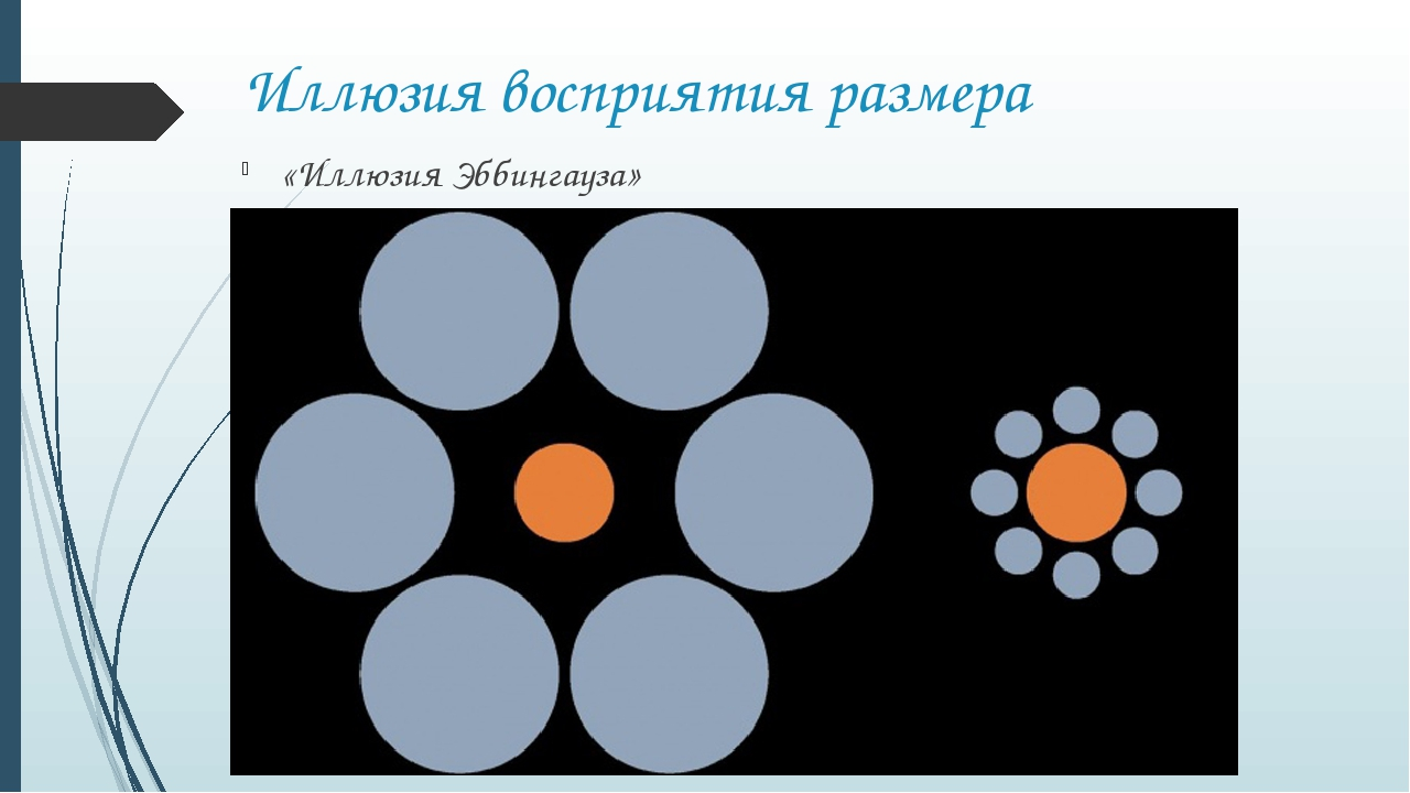 Иллюзия восприятия размера «Иллюзия Эббингауза»