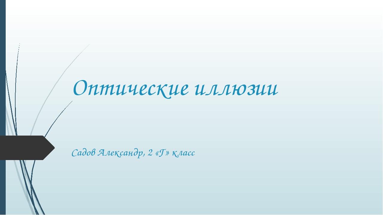 Оптические иллюзии Садов Александр, 2 «Г» класс