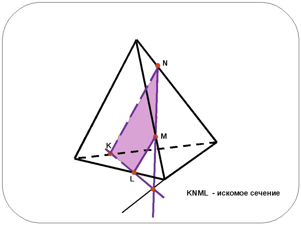 KNML - искомое сечение L