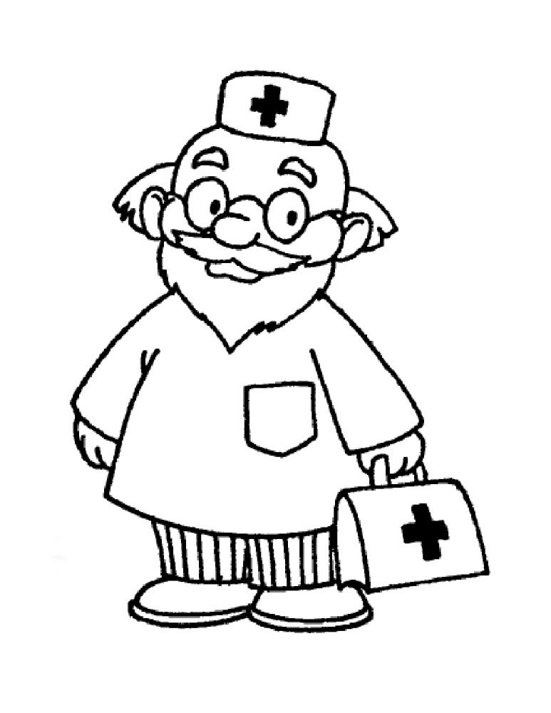 Черно-белые картинки врачей