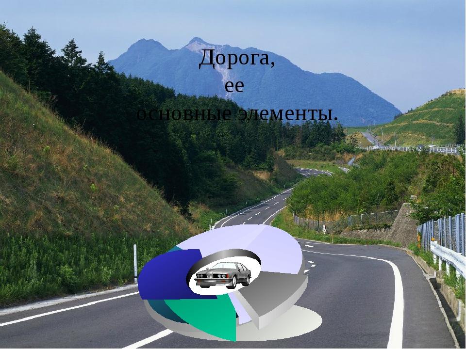 Дорога, ее основные элементы.