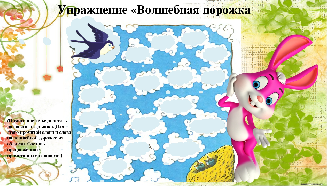 Упражнение «Волшебная дорожка (Помоги ласточке долететь до своего гнёздышка....