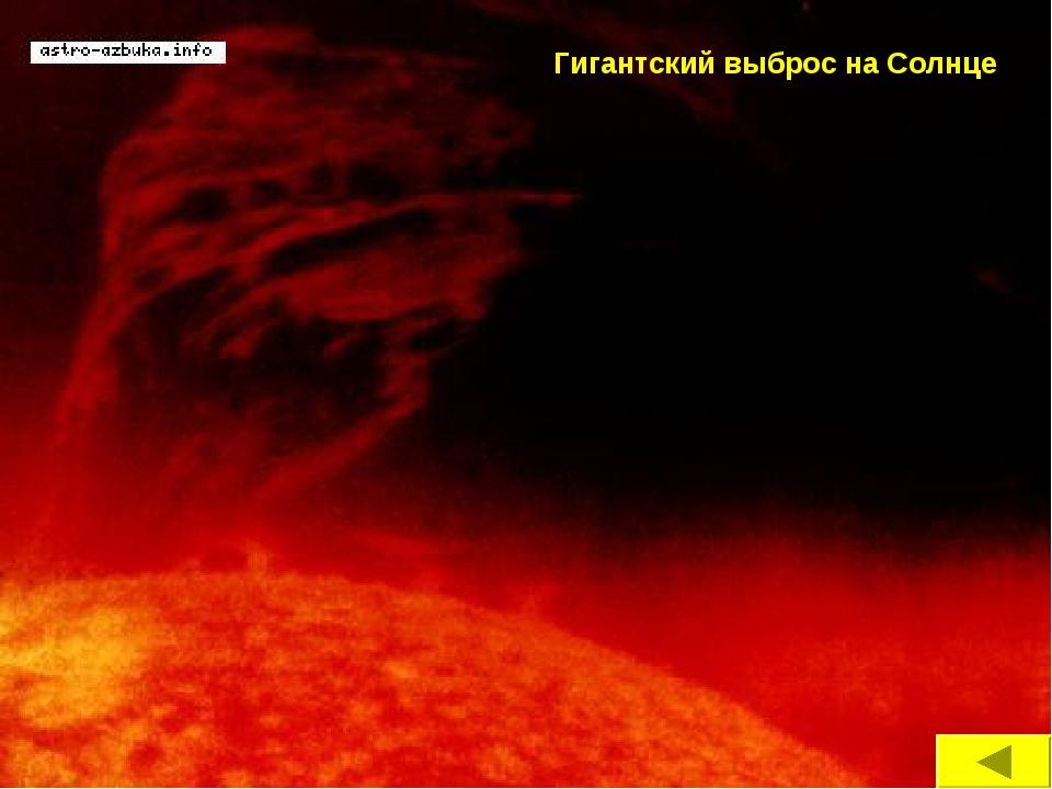 Гигантский выброс на Солнце