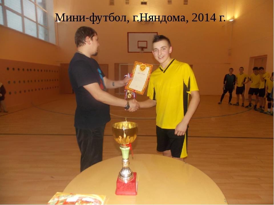 Мини-футбол, г.Няндома, 2014 г.