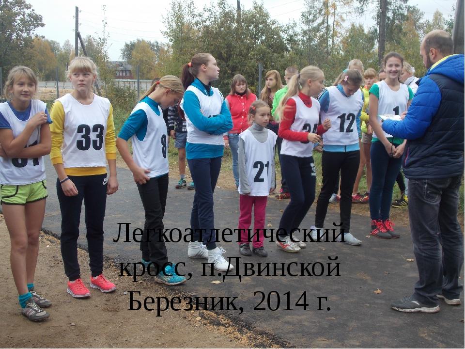 Легкоатлетический кросс, п.Двинской Березник, 2014 г.