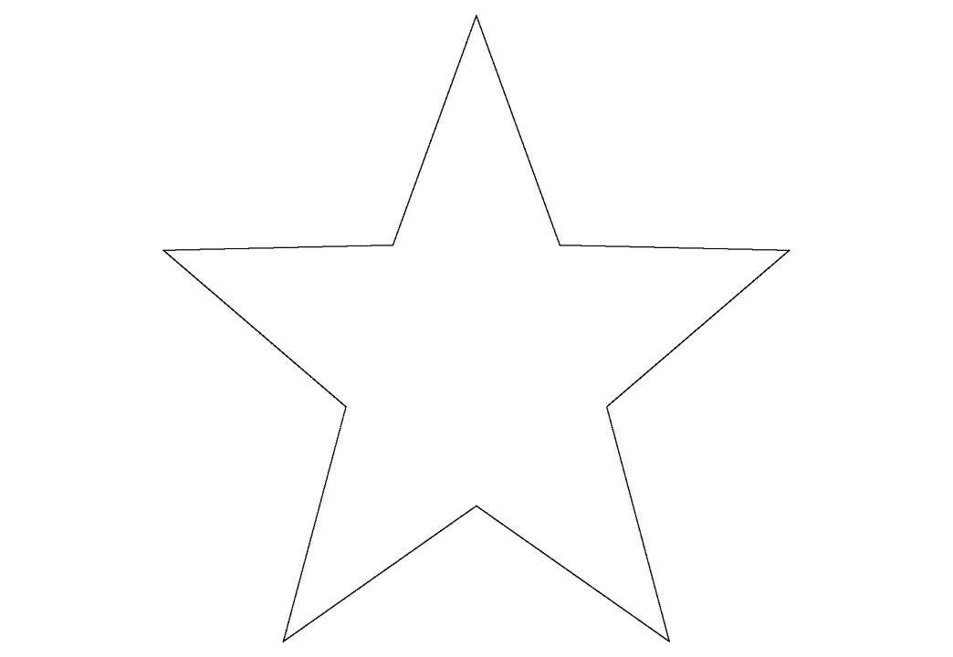 Пятиконечная звезда открытка