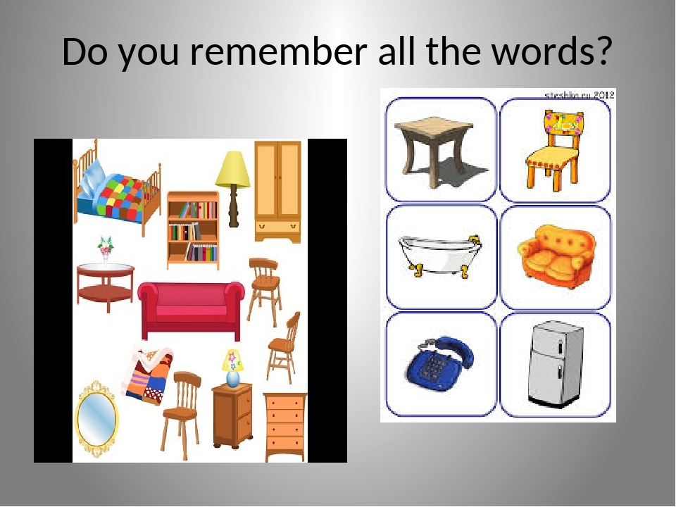 Do you remember all the words?