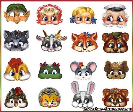 животных дерева, головы персонажей сказок картинки астролог