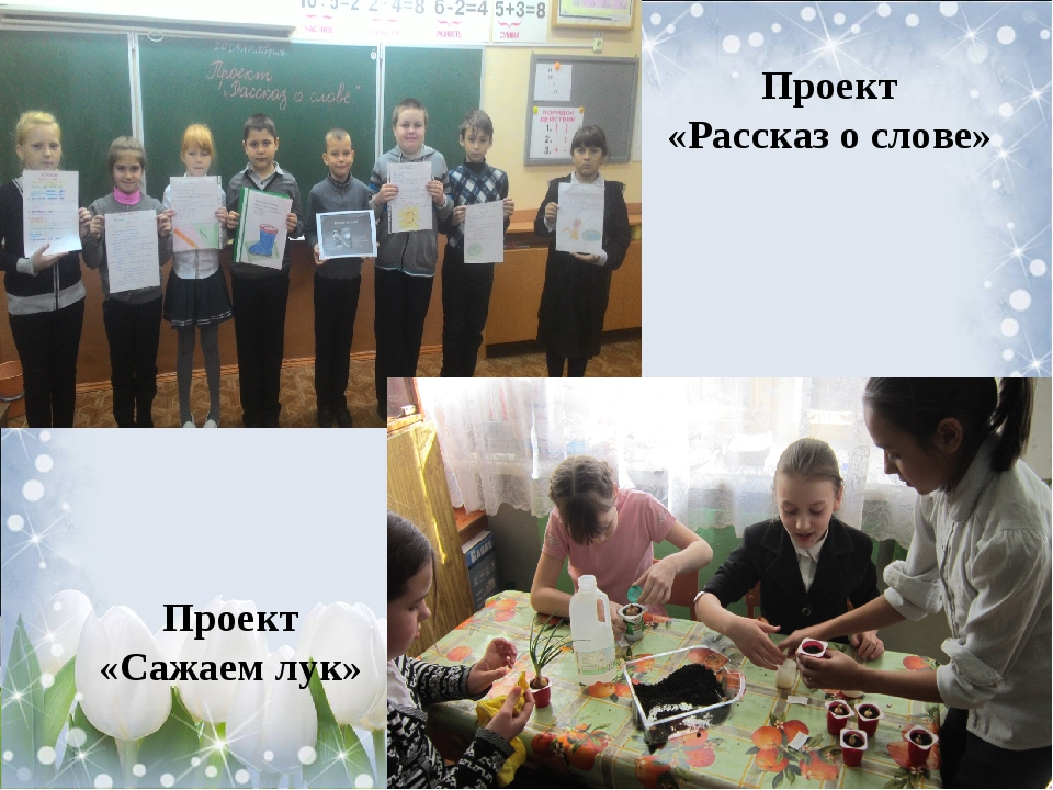 Проект «Рассказ о слове» Проект «Сажаем лук»