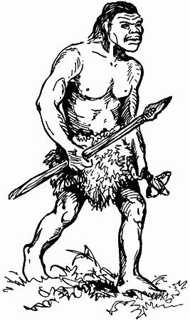 картинка первобытного человека рисующего азовский район этого
