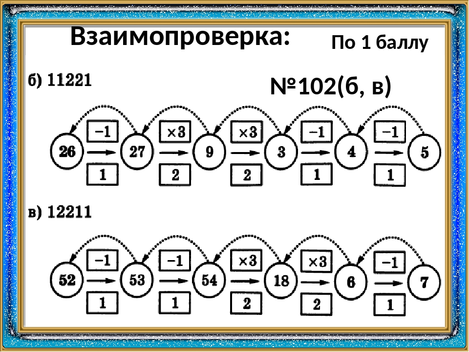 Взаимопроверка: №102(б, в) По 1 баллу