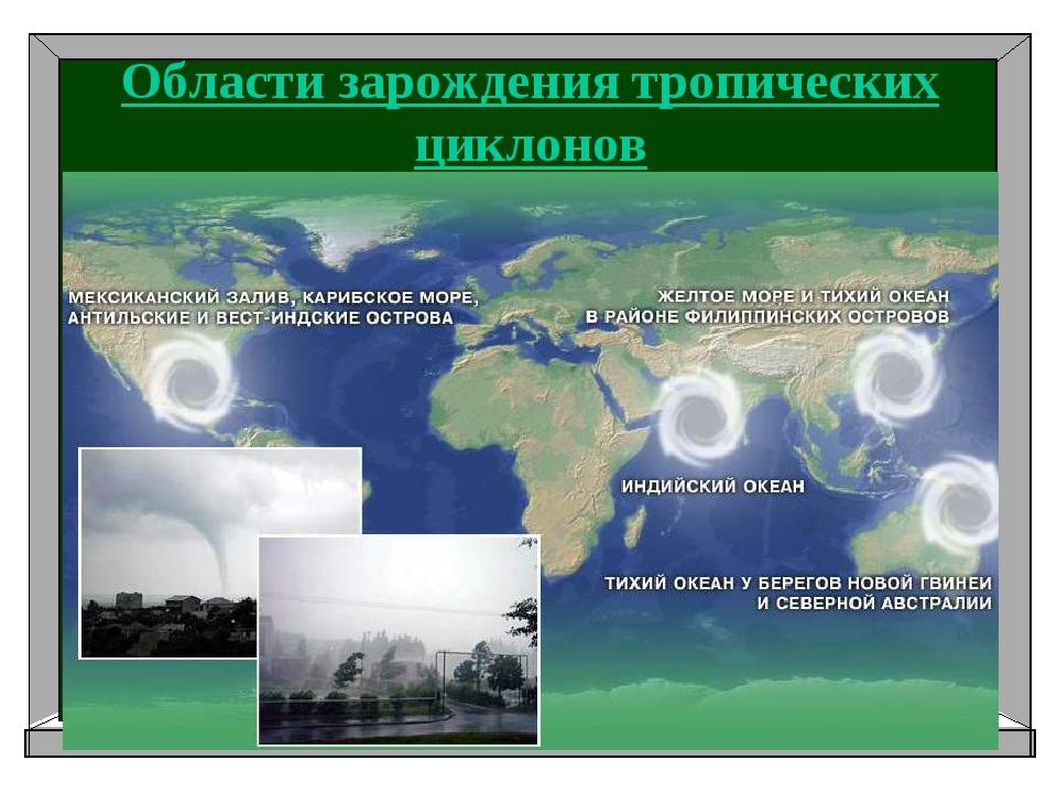 Области зарождения тропических циклонов