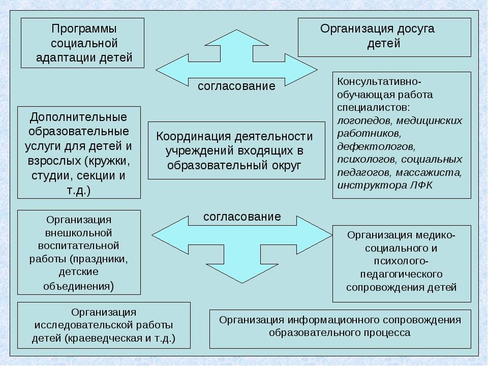 Программы социальной адаптации детей Организация исследовательской работы дет...
