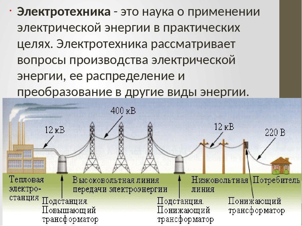 Электротехника - это наука о применении электрической энергии в практических...
