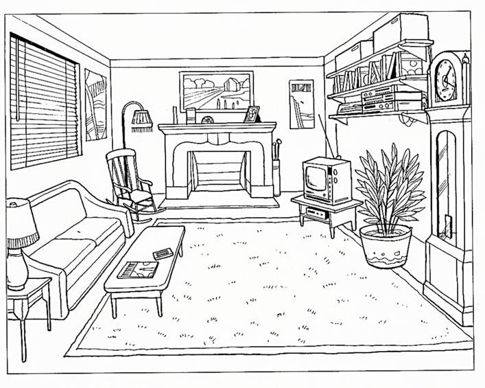 Картинки надписями, картинка комнаты с мебелью для английского языка