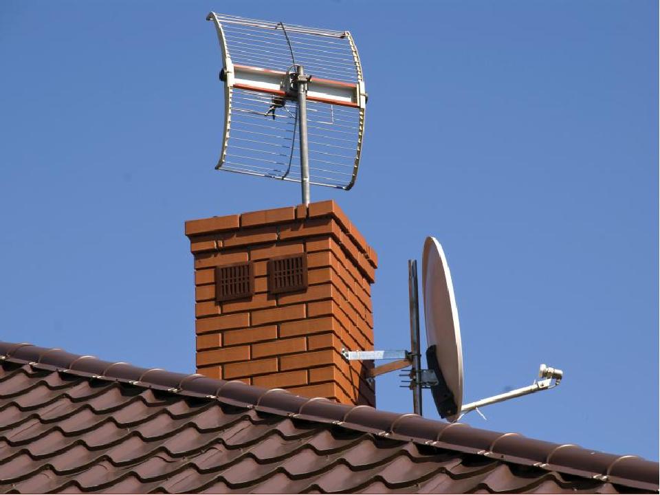 картинки крыш домов с антеннами иллюстрации