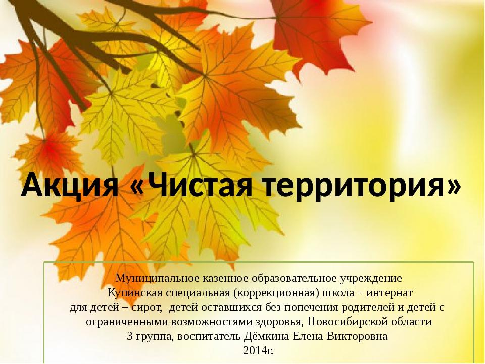 Муниципальное казенное образовательное учреждение Купинская специальная (корр...