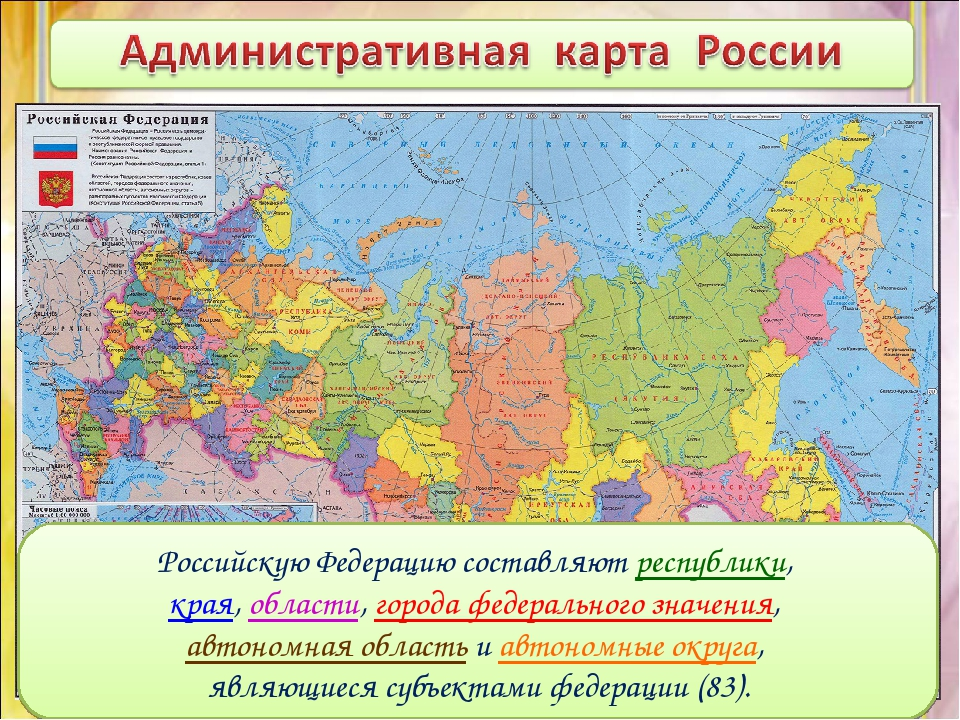 Российскую Федерацию составляют республики, края, области, города федеральног...