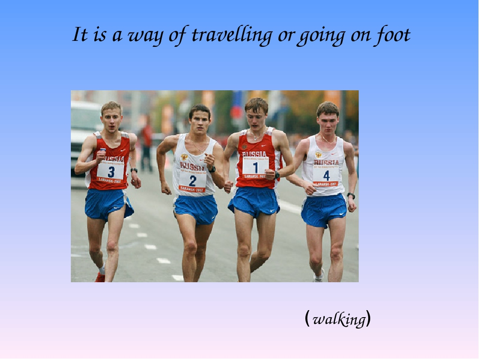 It is a way of travelling or going on foot (walking)