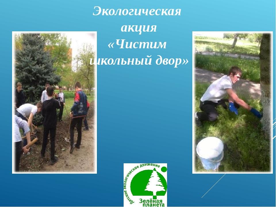 Экологическая акция «Чистим школьный двор»